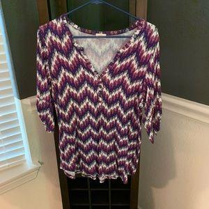 Pixley Tops - Purple pattern Shirt